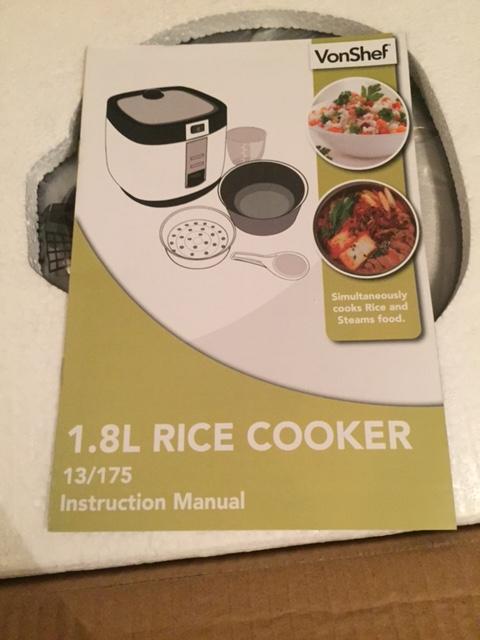 VonShef 1.8 Litre RiceCooker