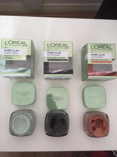 L'Oreal – Pure Clay Masks